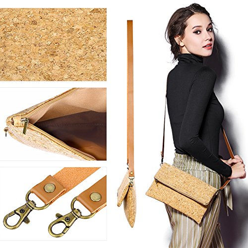 Zippers Bag CrossBody Hand Coin Girl Bag Small Pockets Card Women Cork Purse Clutch Shoulder ECO S88qd1w