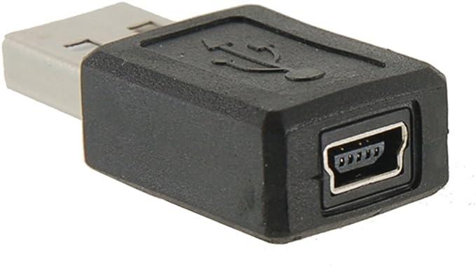 Adaptador USB Macho a Mini USB Hembra: Amazon.es: Electrónica