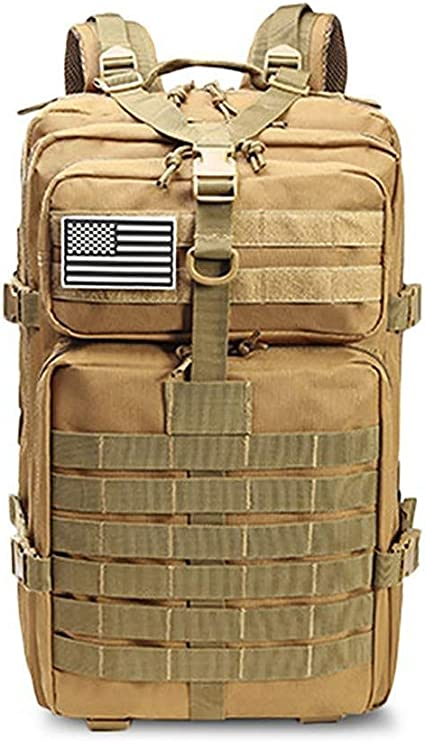 50L Capacidad Hombres Ej/ército Militar T/áctico Mochila Grande Impermeable Deporte Al Aire Libre Senderismo Camping Caza,A