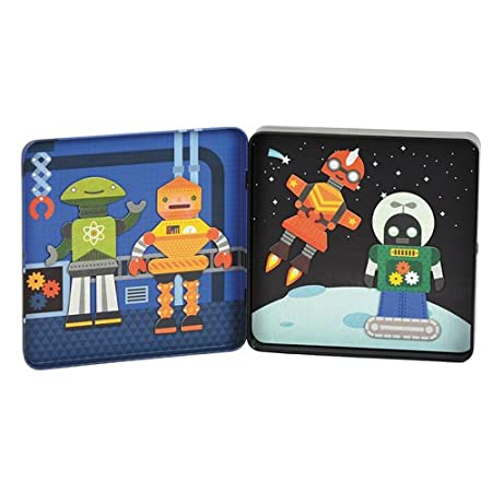 Petit Collage Mix and Match Magnetic Tin Robots Petit Collage-NEW PTC225