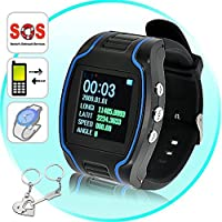Mengshen Mini Child GPS Bracelet GPS Tracking Device TK109 Quad-band Handhel Navigation Outdoor Keychain Wrist Watch Activity Tracker Smallest Chip 1.5 LCD SOS Real Time Locator MS-GPS09
