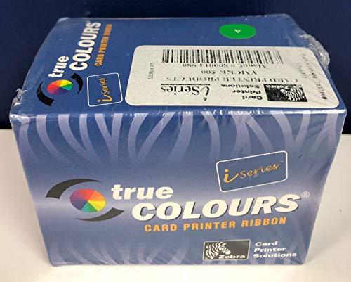 (Zebra 800014-980 Ribbon True Color Card Printer YMCKK-500 P640I)