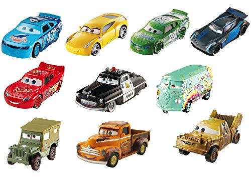 Disney Pixar Cars 3 Piston Cup Diecast Collection, 10-Pack Vehicles ()