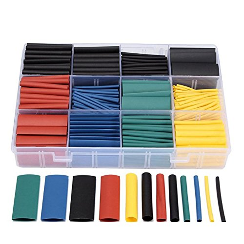 UEB 530pcs Assortment Heat Shrink Tube Wire Wrap Kit Electrical Connection Cable Sleeve Tubing Sets With Durable Storage Case by UEB