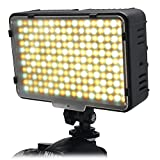 Mcoplus 198 Bi-Color LED Dimmable Ultra High Power Panel Digital Camera Camcorder Video Light, LED Light for Canon, Nikon, Pentax, Panasonic,SONY, Samsung and Olympus Digital SLR Cameras