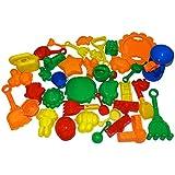 Night Lions Tech 39 Pieces Bulk Sand Molds Beach Toys Set in Zippered Bag