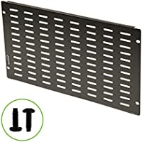 Navepoint 6U Blank Rack Mount Panel Spacer With Venting For 19-Inch Server Network Rack Enclosure Or Cabinet Black