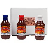 BBQ BROS SAUCES {Sweet, Smokey & Spicy Style} - Ultimate Barbecue Sauce Set - Use for Grilling, Cooking, Smoking - Marinade, Wing Sauce, BBQ Sauce, Glaze, & Baste Sauce - With 100% Customer Guarantee