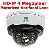 GW Security 4 Megapixel 2592 x 1520 Pixel 4X Optical Zoom Weatherproof PoE 1520P Security Dome IP Camera with 2.8-12mm Varifocal Motorized Zoom Len and 28Pcs IR LED up to 80FT IR Night Vision Review