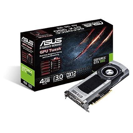 ASUS GeForce GTX 980-4GD5 - Tarjeta gráfica (NVIDIA, 1178 ...
