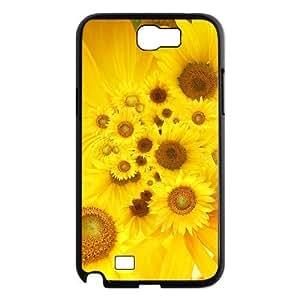 LZHCASE Diy Design Back Case Sunflower for Samsung Galaxy Note 2 N7100 [Pattern-1]