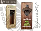 Bottle Opener Magnetic Cap Catcher – Handmade Walnut Wood with Custom Engraved Wording or Logo Review