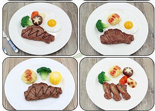 Artificial Lifelike Steak Simulation Fake Food Home Shops Decor by Black Temptation (Image #1)