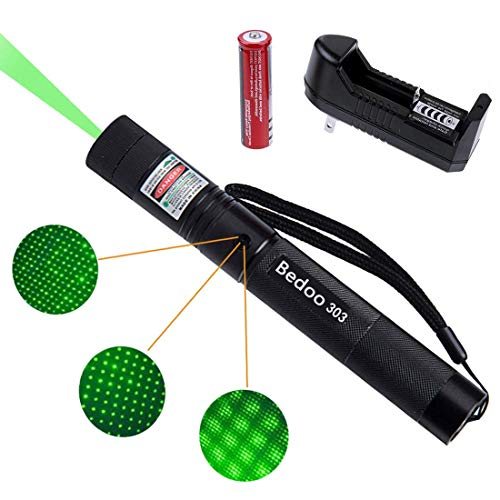 Tactical Green Hunting Rifle Scope Sight Laser Pen Demo Remote Pen Pointer Projector Travel Outdoor Flashlight LED Interactive Baton Funny Laser toy (Laser Pen)]()