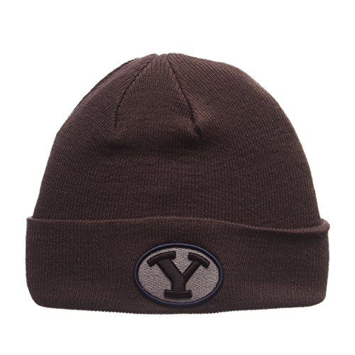 ZHATS Brigham Young University Cougars Charcoal Gray X-RAY POP Cuff Beanie Hat - NCAA BYU Cuffed Winter Knit Toque Cap