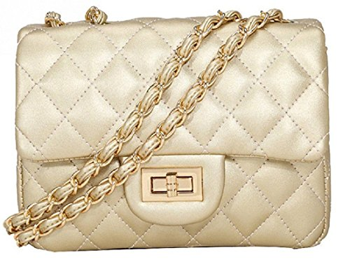 Quilted Gossip Chevron Strap Shoulder Weddings Clutch With Faux Prom Ideal Cross Chain For Cream Quilted Inspired Evening Bag Gold Designer Tassel Disco Girl Parties Bridal Leather Body YrTqrt8