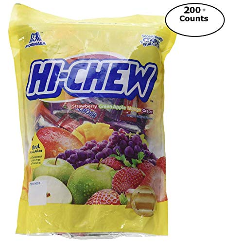 Morinaga Hi-chew Fruit Chews Assorted Fruit Flavours Individually Wrapped Candies (200+ Count)
