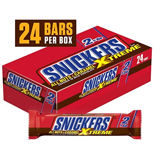 (SNICKERS Xtreme Sharing Size Chocolate Candy Bars 3.59-Ounce Bar 24-Count Box)