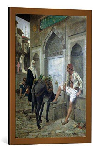 kunst für alle Framed Art Print: Edouard-Bernard Debat-Ponsan A Street in Istanbul 1883