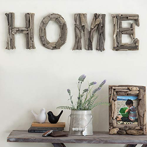 MyGift Home Rustic Natural Indonesian Driftwood Decorative Wall Sign, 10-inches (Each Letter) (Home Letters Wall)