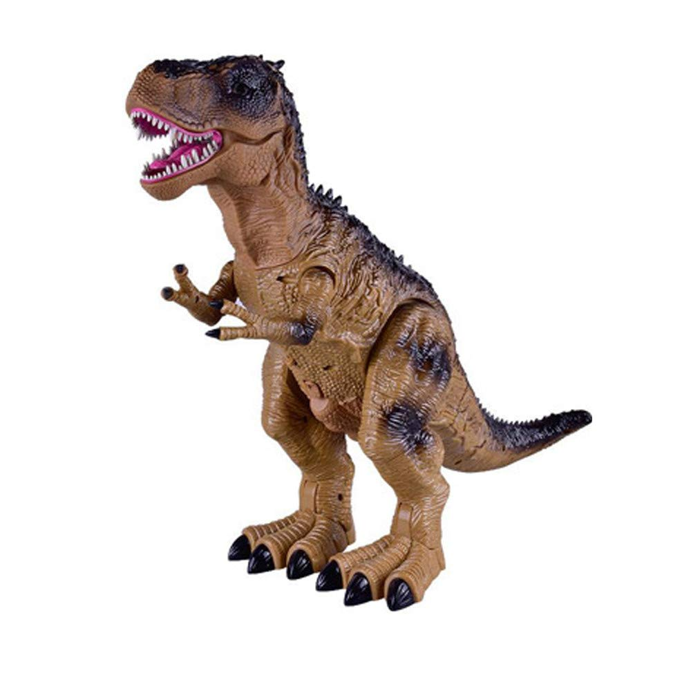 Ultra-Realistic Electronic Dinosaur Children's Funny Toys Multi-Function Walking Dinosaur Spray Flash The Best Gift for Kids(A)