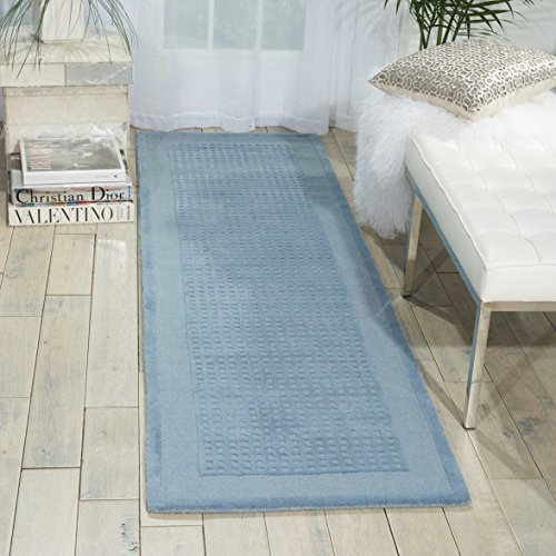Nourison Westport Blue Runner Area Rug, 2-Feet 3-Inches by 7-Feet 6-Inches (2'3