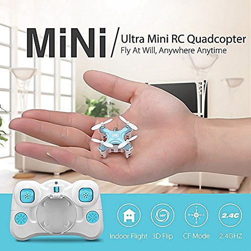 Haibei 1.18*1.18*0.79inch D1 Pad 2.4g 4ch 6axis Gyro Rc Drone Quadcopter Mini Quad Copter Headless Mode 360 Degree Rollover Best Palm Rc Toys Blue