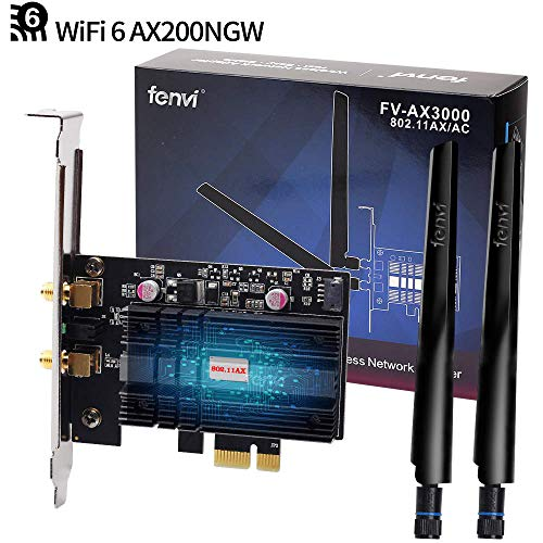 fenvi Wi-Fi 6 Gig+ AX200 BT 5.0 WiFi Card AX200NGW 802.11ac/ax 2.4Gbps MU-MIMO OFDMA Miracast PC Wireless Network Adapter Ultra-Fast Affordable Next-Gen Built-in PCIe Gaming WiFi