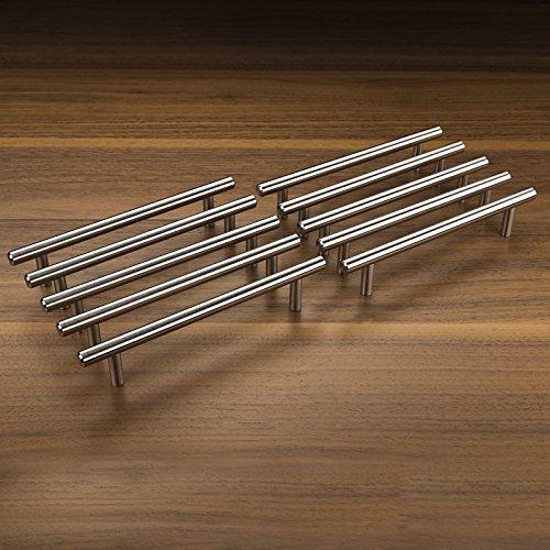 10tlg SO-TECH® 128mm Edelstahl Möbelgriffe (G14) Stangengriffe Relinggriffe