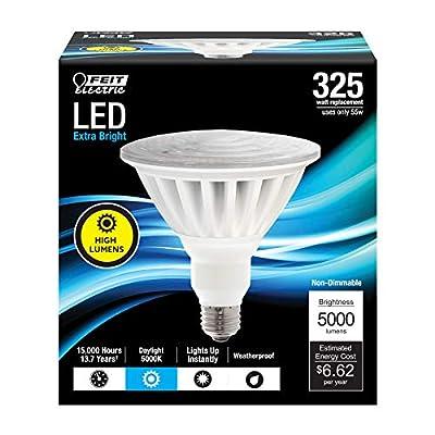 """Feit Electric PAR38/5000/5K/LED Non Dimmable High Lumen PAR38 LED Light Bulb, 5""""H x 4.75""""D, Daylight 5000K"""