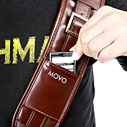 Movo MP-SS5 Vintage Rapid Camera Sling Strap with Quick Release Clip and Padded Shoulder Strap (Simulated Leather)
