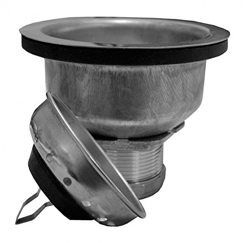 Stainless Steel Deep Cup Basket Strainer with Snap-In Basket- Pack of 5