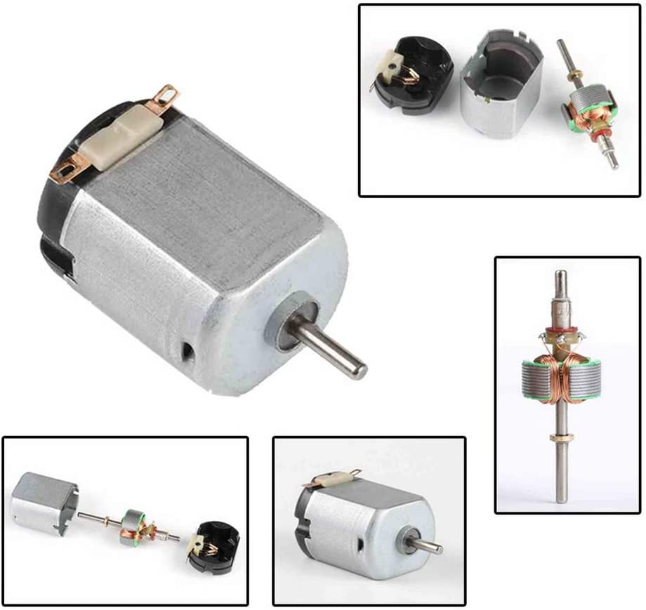 Metal Car Engine Motor Kit for Toys High Speed Torque DIY Remote Control Toy Car Hobby Motor Godagoda 130 DC Motor Strong Carbon Brush DC 3V 14500 RPM Cars Toys Electric Motor