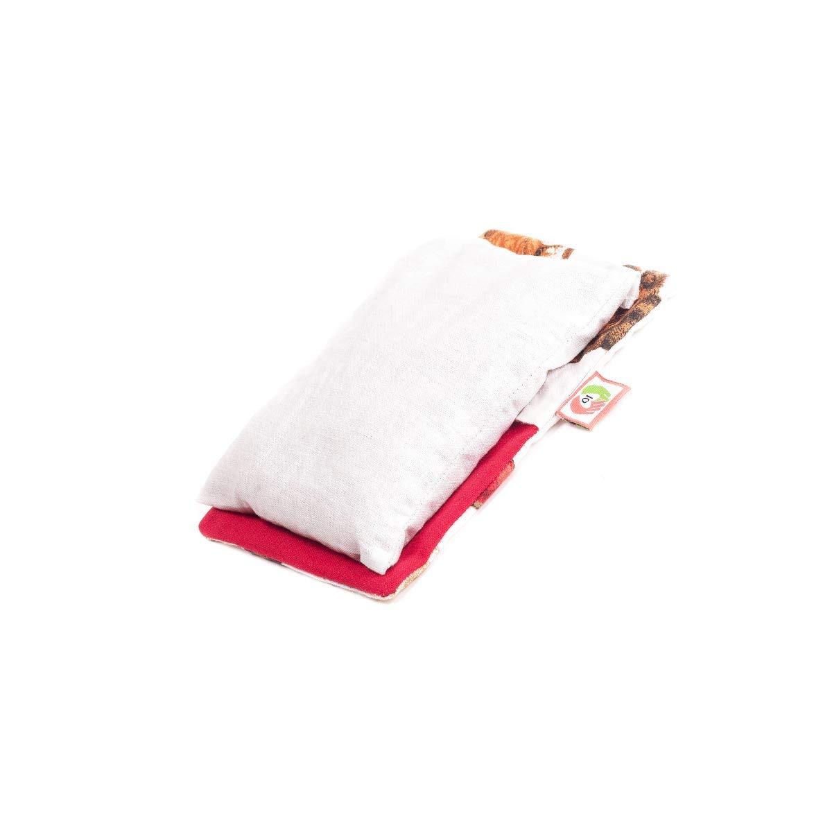 36b83d6d9c Cuscino termico anticolica di neonati (15x10 cm) con semi di grano e fiori  di lavanda, riscaldabile al microonde con federa esterna rimovible e  lavabile in ...