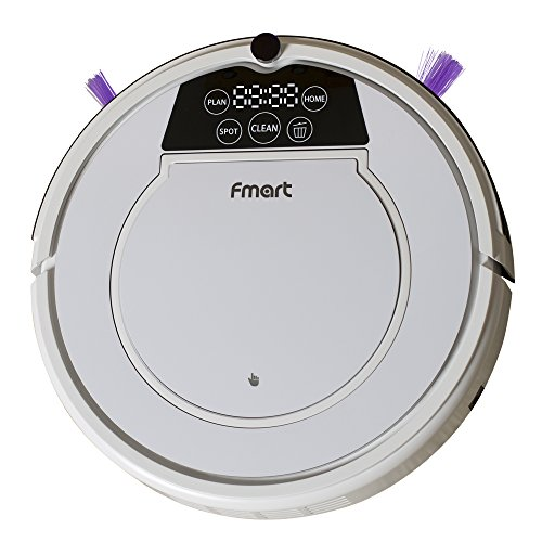 Fmart Robotic Vacuum Cleaner for Dog Pet Hair HEPA Filter, Hard Floor Auto Cleaning Robot Self-charging, Dry Wet Mop with Remote Control Schedule for Mother's Day, E-R550W(s)