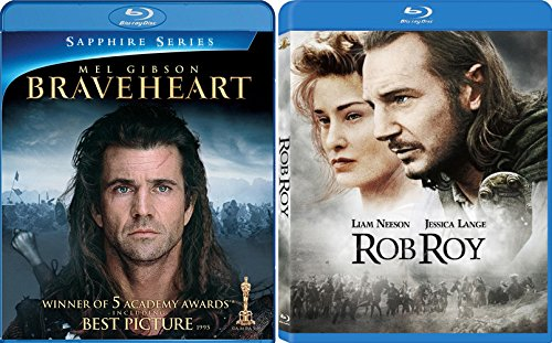 Rob Roy + Braveheart Blu Ray 2 Pack Epic Movie Mel Gibson Action Set