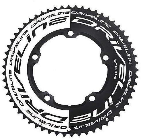 BCD Driveline AL7075 130 mm Color Negro y Blanco # ST1554 58 T Cadena para Bicicleta de Carretera TT