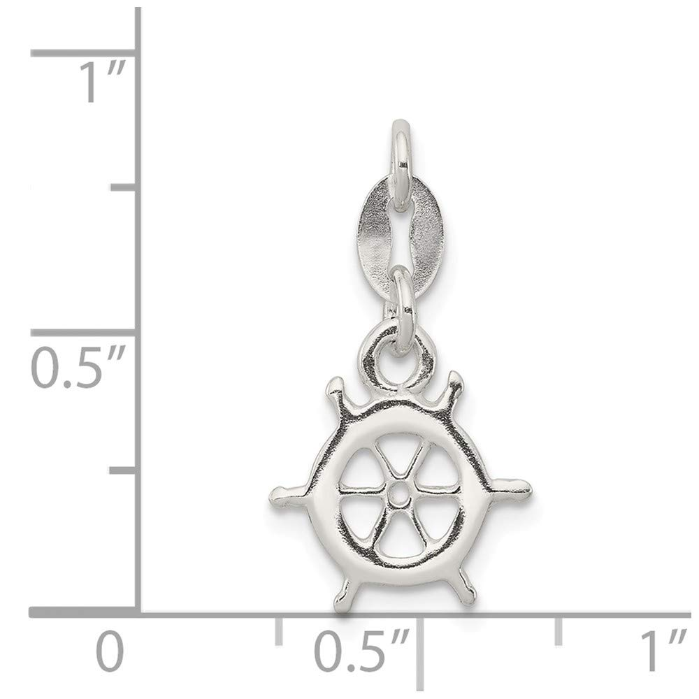 Mia Diamonds 925 Sterling Silver Solid Polished Nautical Charm