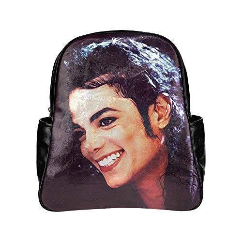 Michael Jackson Multi Pocket Backpack Bag School Bag Laptop Bag (Michael Jackson Backpack)