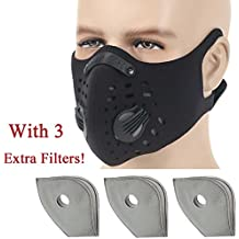 Anqier Dust mask, Activated Carbon Filtration Dustproof Mask Exhaust Gas Anti Pollen Allergy PM2.5 Dust Mask For Cycling Running Woodworking Mowing Lawn and Outdoor Activities