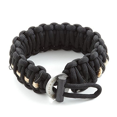 X-Plore Gear Survival Paracord 550 Bracelet With Fire Starter, Tinder, Eye Knife | Durable Parachute Nylon Snug Fit | Build Shelter, Catch Food | For Emergencies, Traveling - To How Not Things Lose