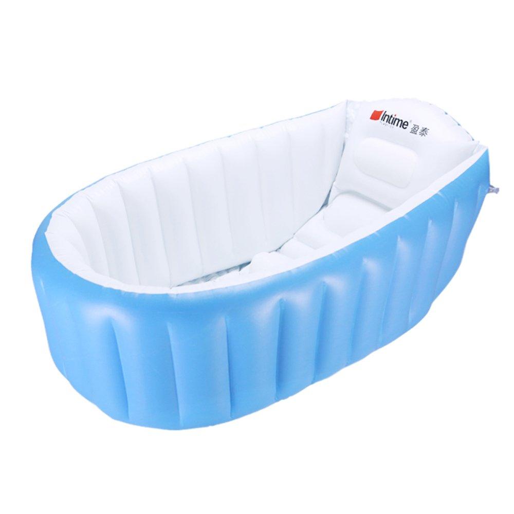 Bathtub Plastic Baby Tub Foldable Tub Inflatable Tub for Baby, Children, Can Sit or Lie Bath Tub, 885535cm