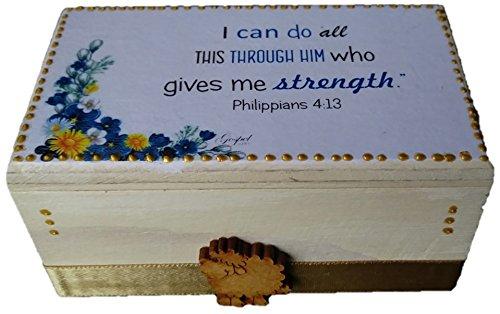 Caja de promesas Biblicas – 約束ボックスPhilippians 4 : 13   B075BRR5Z6