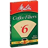Melitta Natural Brown, Cone Filters #6 40 ea
