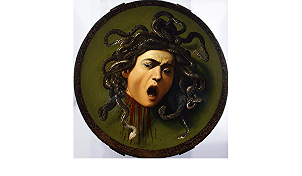 Caravaggio Medusa Design Canvas Print Picture Painting Frame Home Furnishings