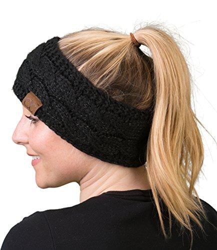 (Funky Junque HW-6033-20a-9006 Headwrap - Solid Black Metallic)