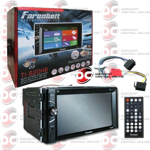 2014 Farenheit Double Din 2DIN 6.2'' Touchscreen DVD MP3 CD Player with Bluetooth Mobile Link + Remote by Farenheit