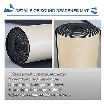 uxcell 315mil 6.46sqft Car Cell Foam 8mm Sound Proofing Insulation Deadener Mat 40x24 Inch: Automotive