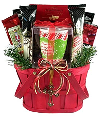 the reason for the season a christian christmas gift basket medium