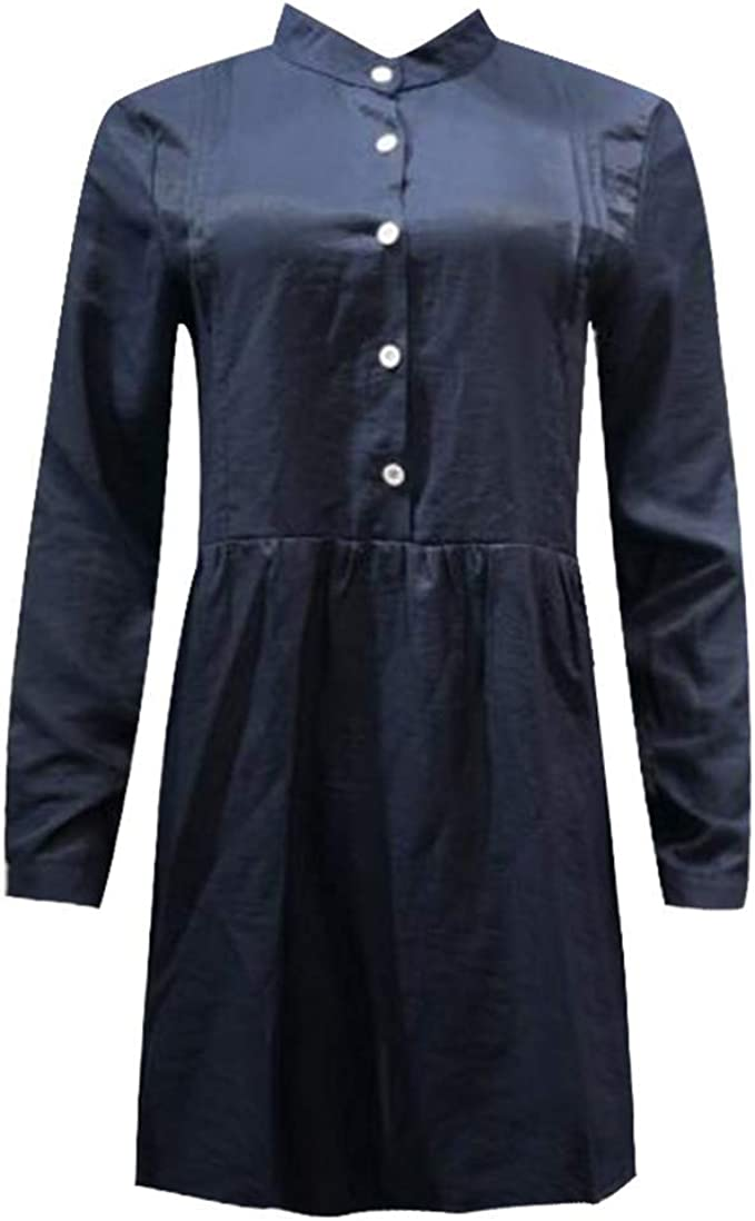 AIFGR Falda de señora Damas Camisa Casual de Manga Larga o Cuello ...